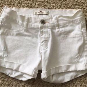 Hollister white jean shorts!!